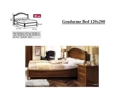 Clearance Bedroom Gendarme Bed 120x200 085let.27no+ frame 000ret.230