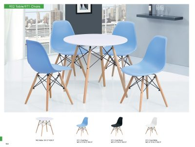 Modern Casual Dining Sets 902 Table and 971 Chairs