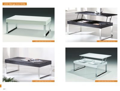 J030 White Coffee Table Coffee And End Tables Living Room Furniture