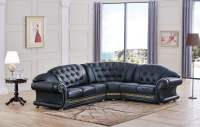 Living Room Furniture Apolo Sectional Black Apolo Sectional Black