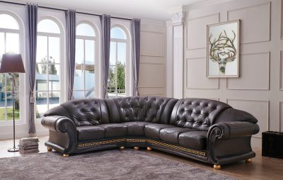 Living Room Furniture Apolo Sectional Brown Apolo Sectional Brown