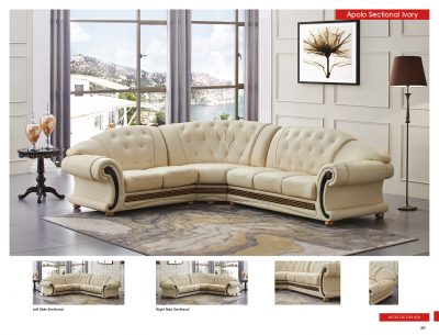 Living Room Furniture · Leather Sectionals : ivory leather sectional - Sectionals, Sofas & Couches