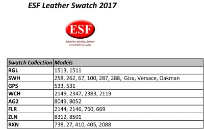 Stock Living Leather Swatch Info