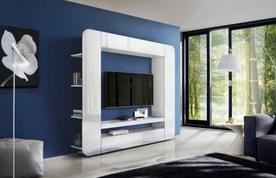 Wallunits Entertainment Centers Prisma Wall Unit White