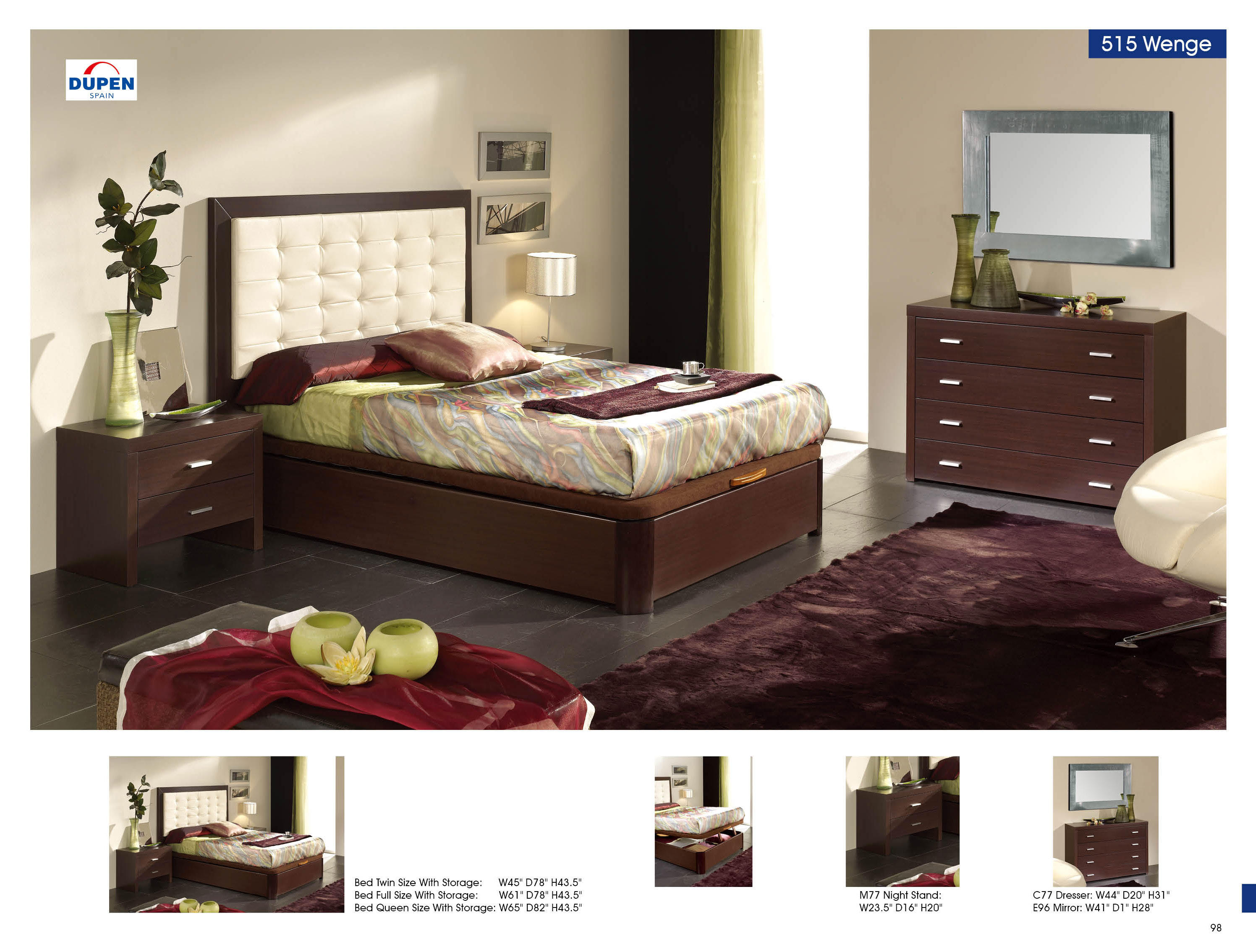 Charmant Bedroom Furniture Beds With Storage Alicante 515 Wenge, M77, C77, E96