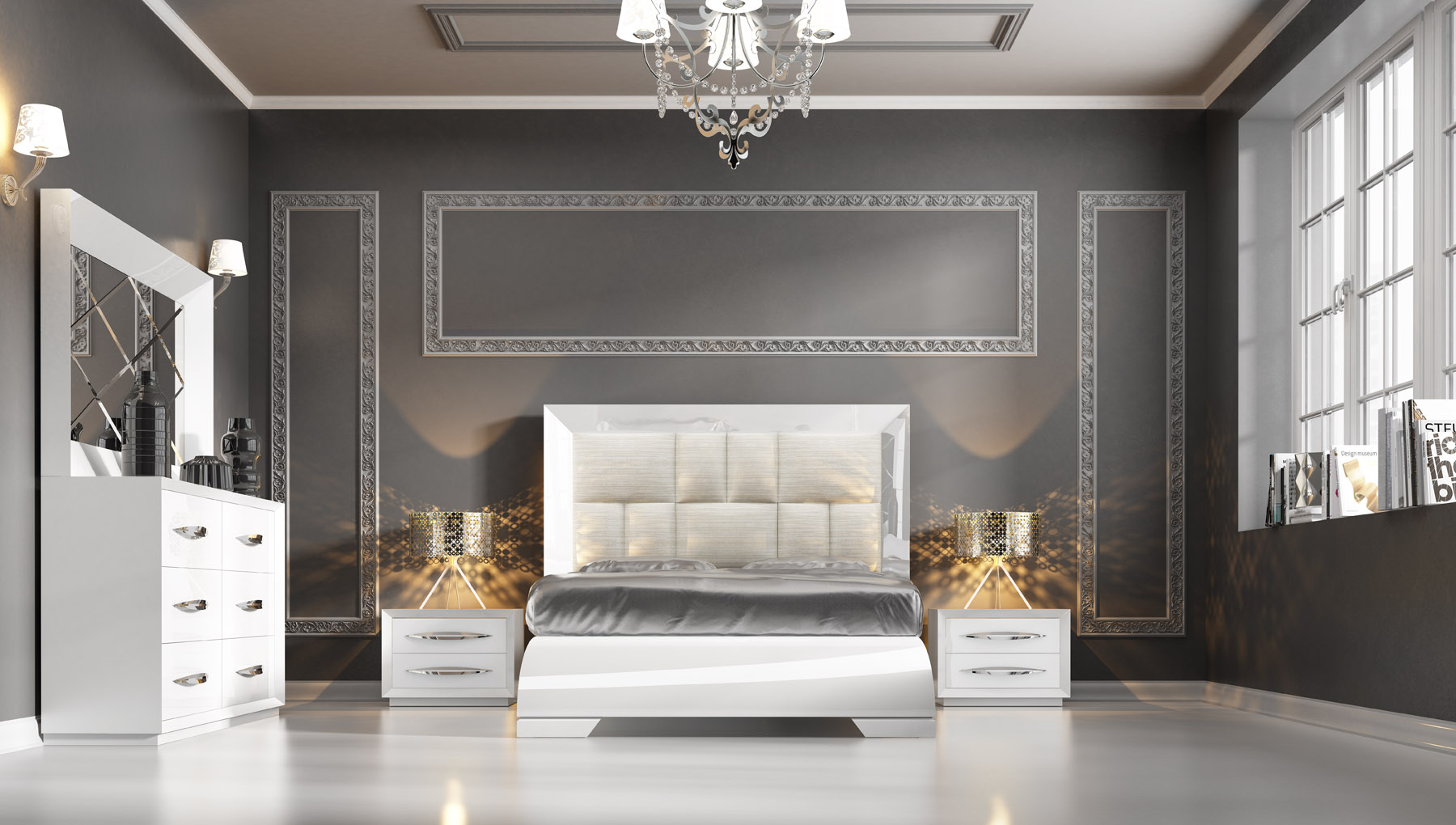 carmen white modern bedrooms bedroom furniture 16460 | bedroom furniture modern bedrooms carmen white side 4