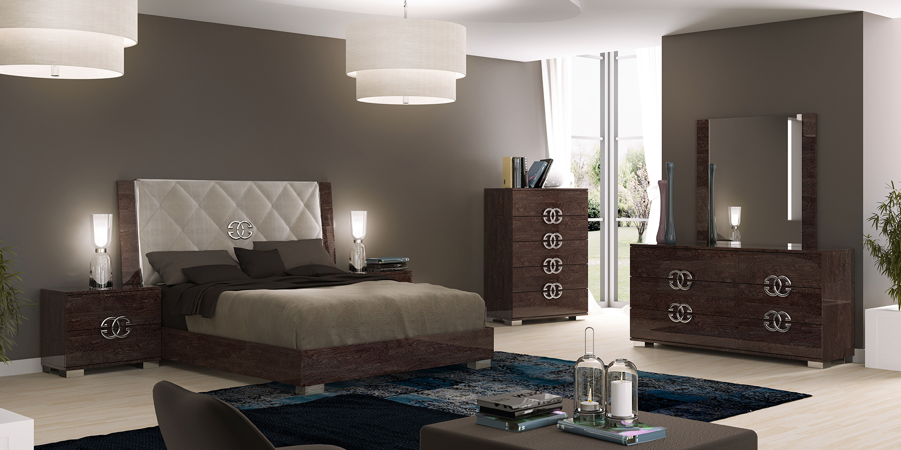 Prestige deluxe modern bedrooms bedroom furniture for Bedroom ideas with furniture