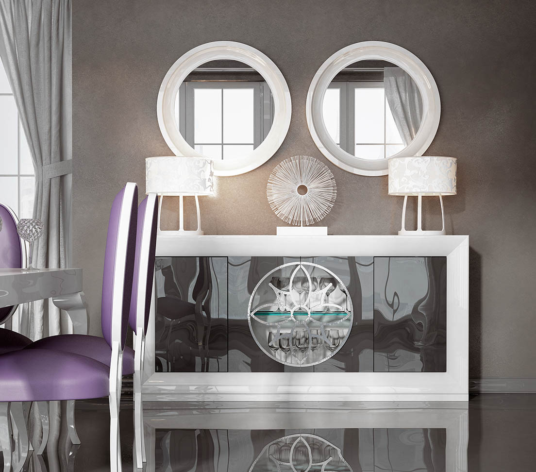 Brands FRANCO AZKARY II SIDEBOARDS, SPAIN AII.26 Sideboard + 2 Mirrors
