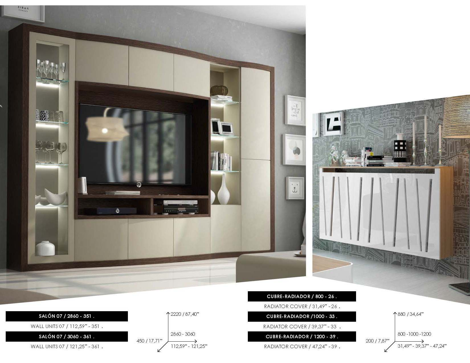 Fenicia Wall Unit Salon 07, Beds with Storage, Bedroom Furniture