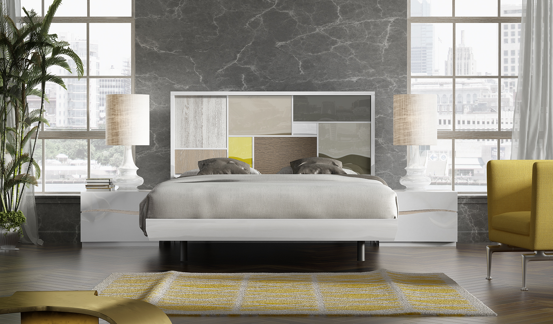 Brands Fenicia  Modern Bedroom Sets, Spain Fenicia Composition 17 / comp 602