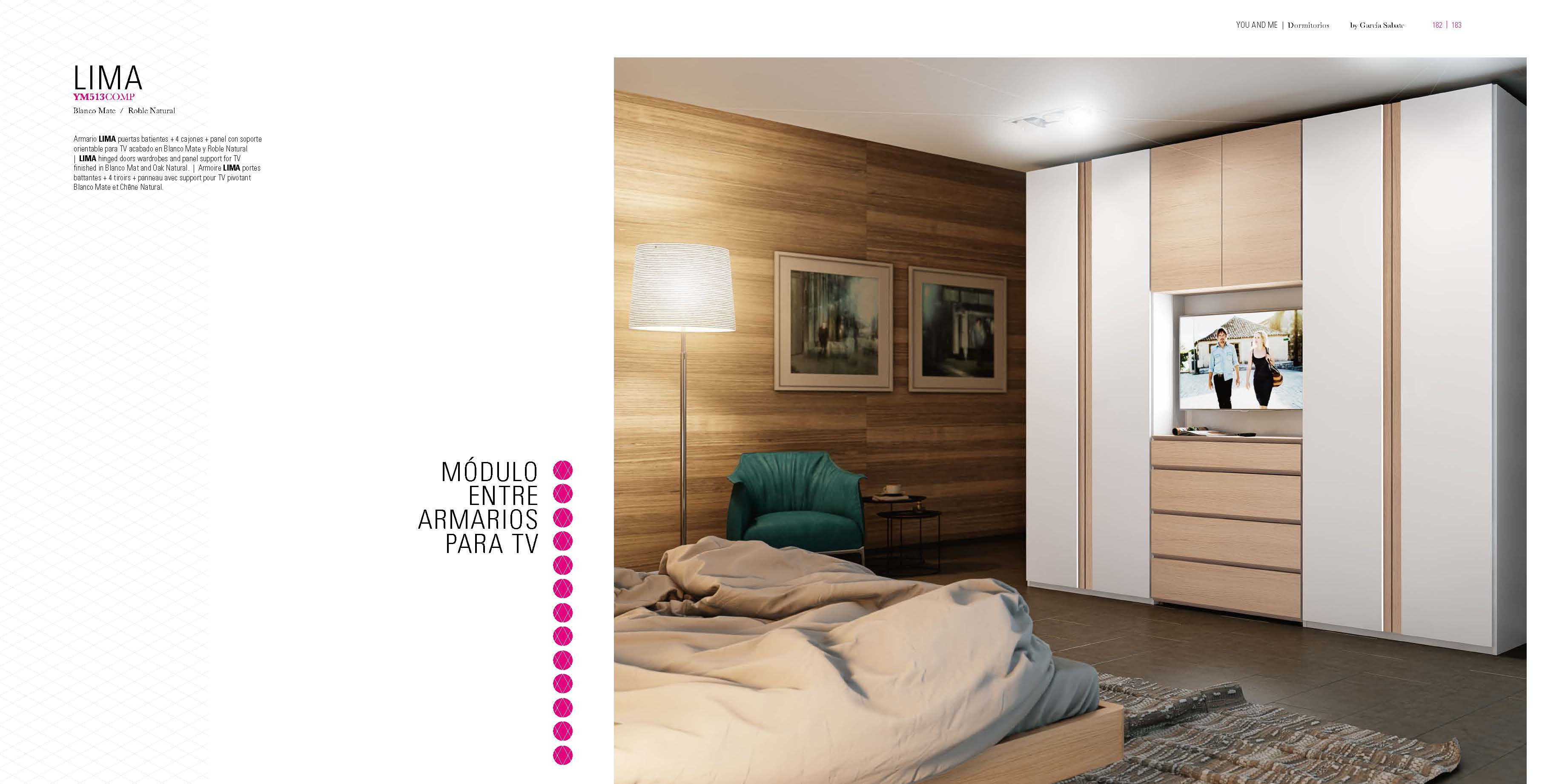 Brands Garcia Sabate, Modern Bedroom Spain YM513 Sliding Doors Wardrobes