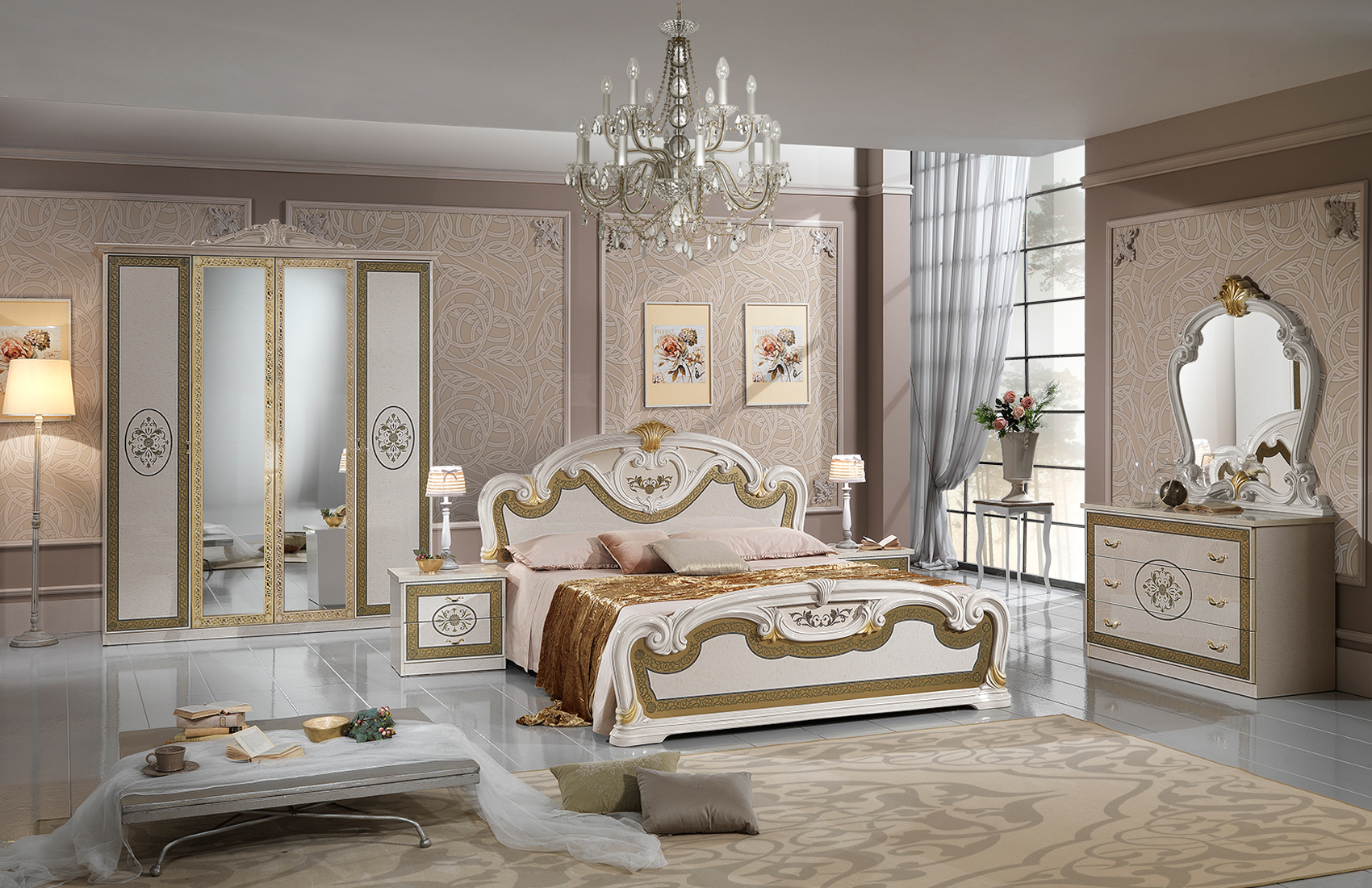 Brands MCS Classic Bedrooms, Italy Natalie Bedroom