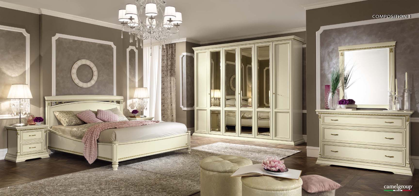 Brands Camel Traditional Collection, Italy Treviso Night Composition 1 in White Ash