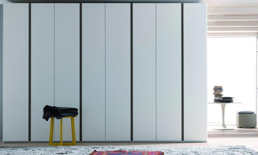 Wardrobe Doors Modern : hinged door wardrobe with neve mat lacquer smart doors with visone mat ...