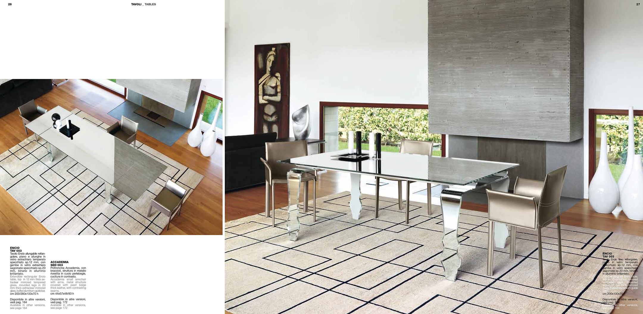 Brands Unico Tables and Chairs, Italy ENICO