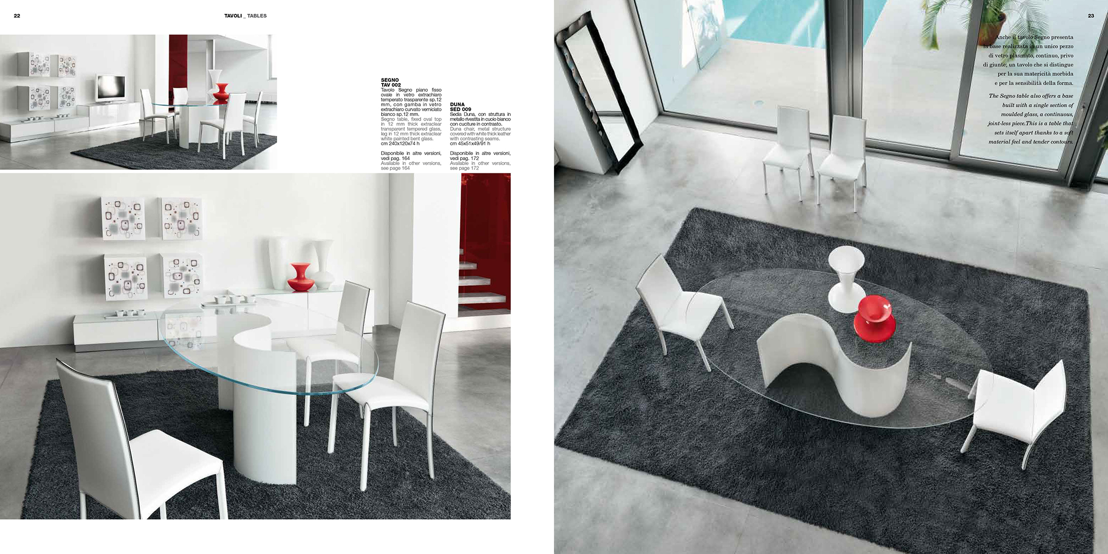 Brands Unico Tables and Chairs, Italy SEGNO