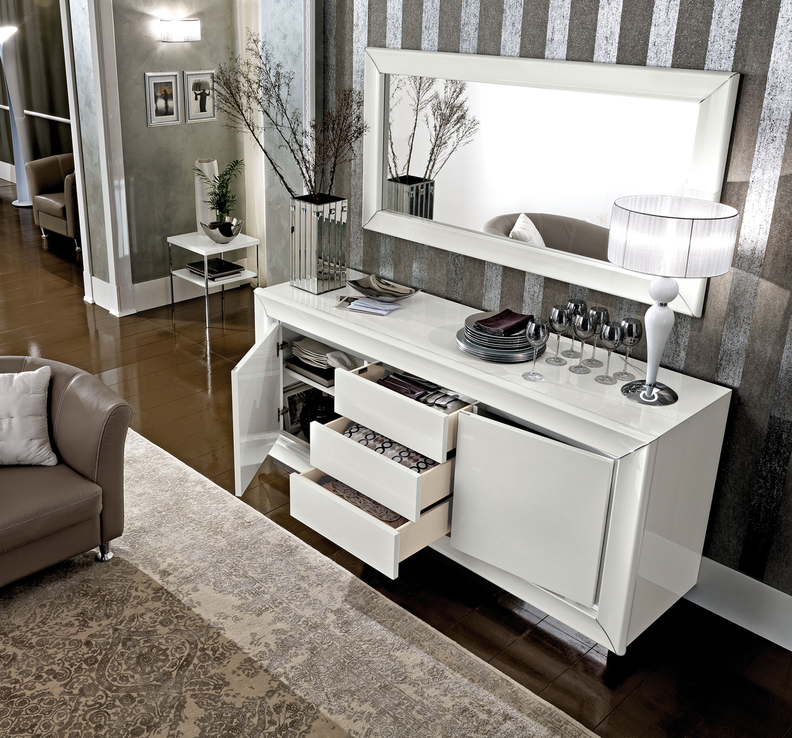 Dama Bianca Dining Modern Formal Dining Sets Dining Room Furniture - Modern formal dining rooms