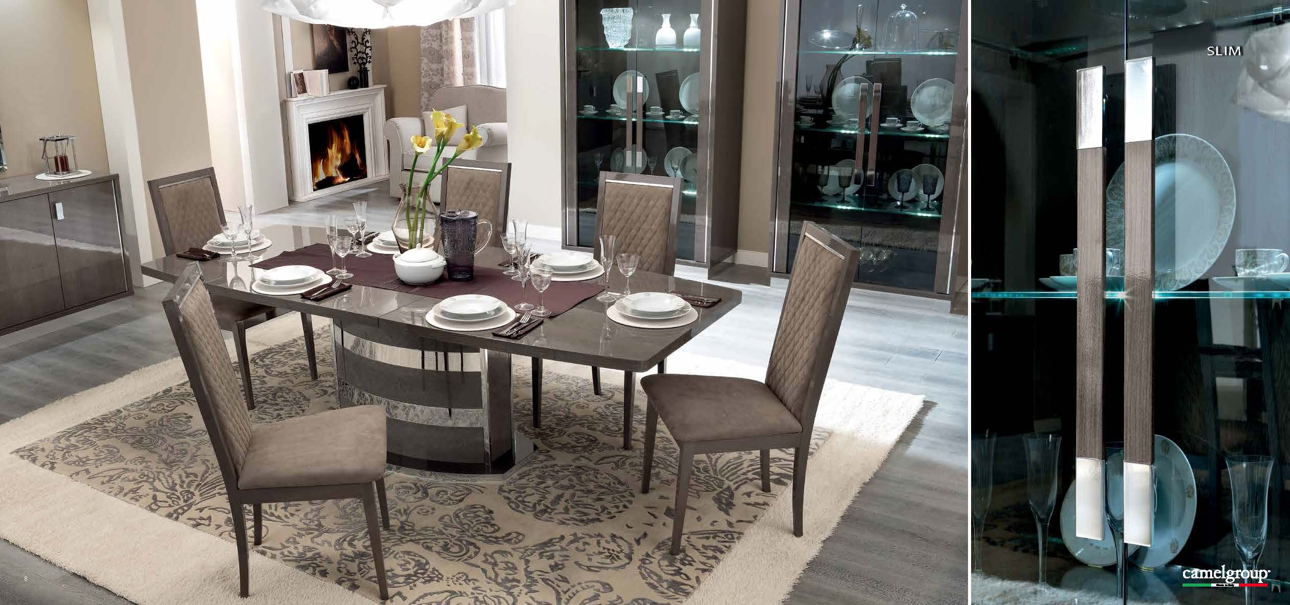 Modern formal dining room sets - Dining Room Furniture Modern Formal Dining Sets Platinum Slim Dining View Larger Image More Images And Dimensions Seat