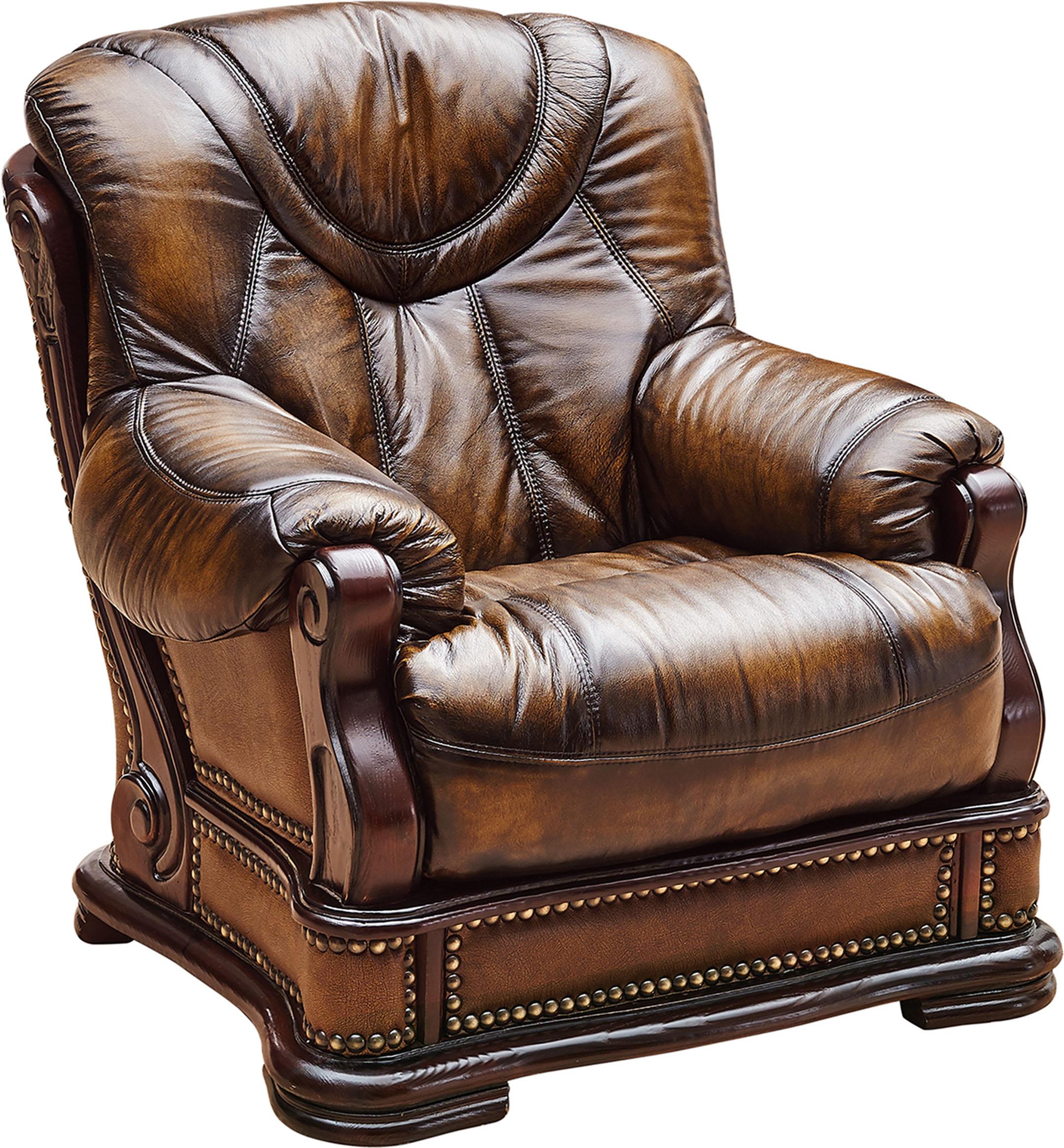 Oakman Leather Classic 3 pcs Sets Living Room Furniture
