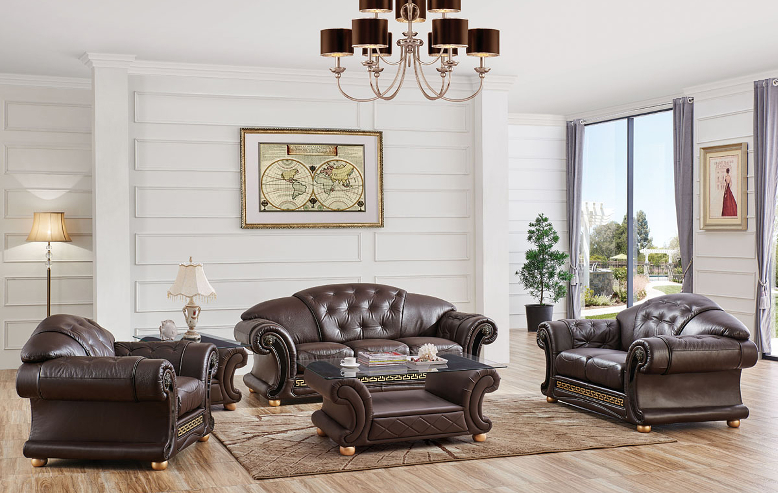 Apolo Brown, Sofas Loveseats and Chairs, Living Room Furniture