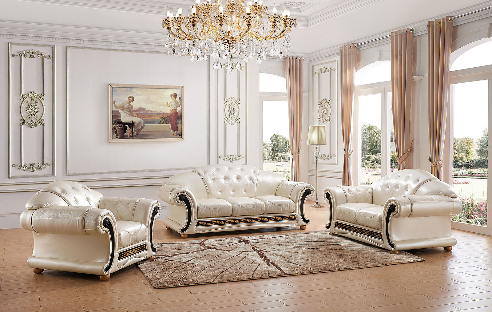 Apolo Pearl, Sofas Loveseats and Chairs, Living Room Furniture