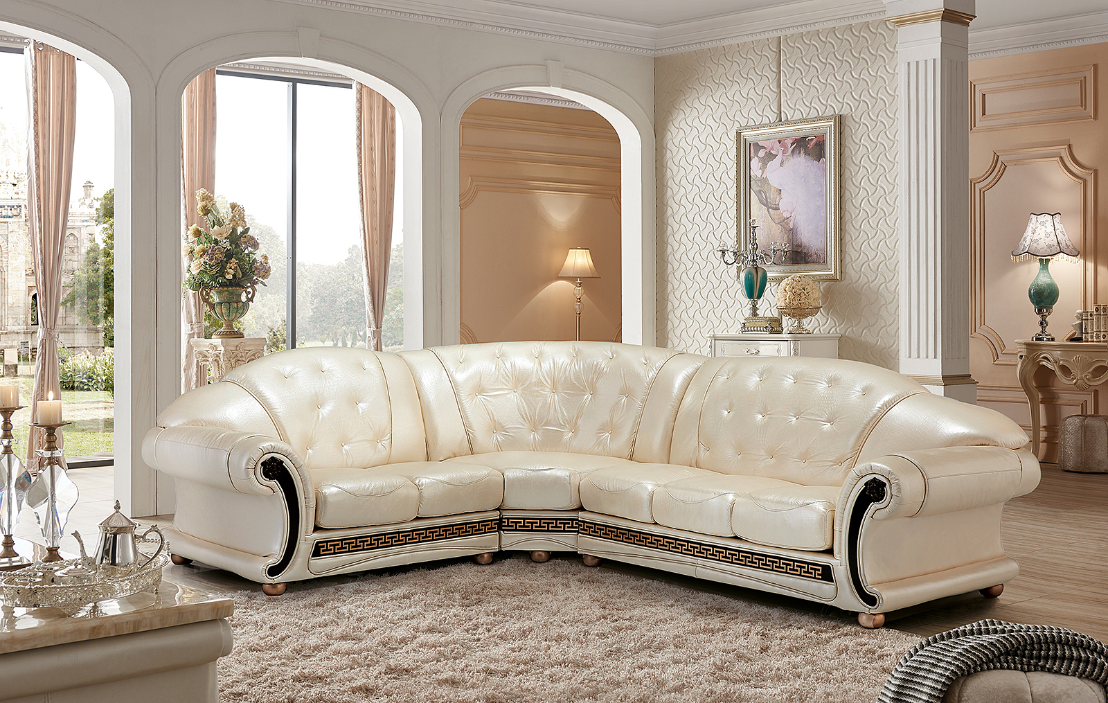 Apolo Sectional Pearl, Sectionals, Living Room Furniture