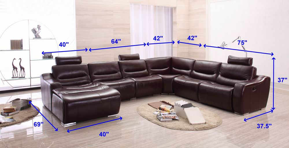 2144 Sectional Left W Recliner Recliners Living Room Furniture