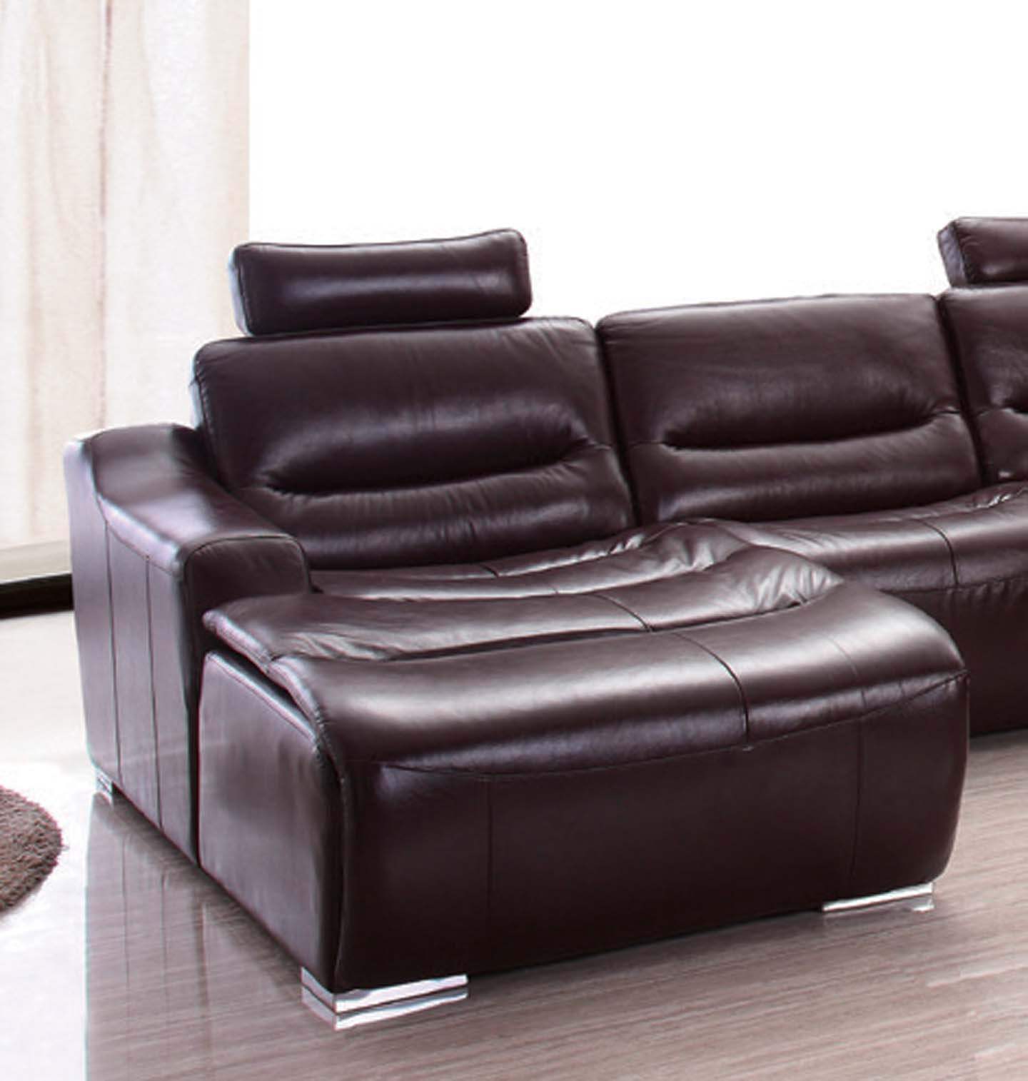 2144 Sectional Left w Recliner Leather Sectionals Living Room